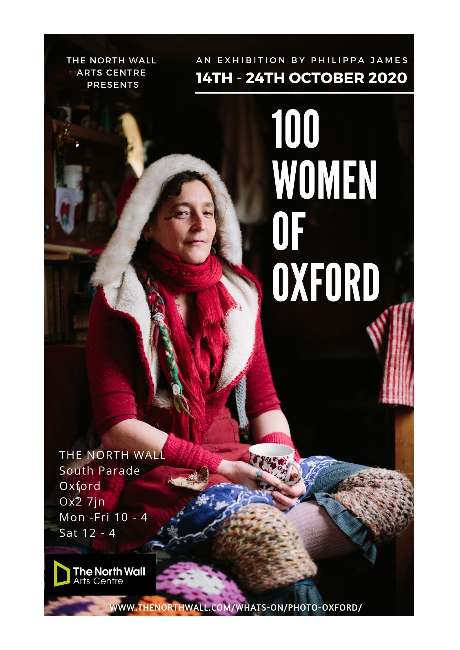 100 women of oxford exhibition poster